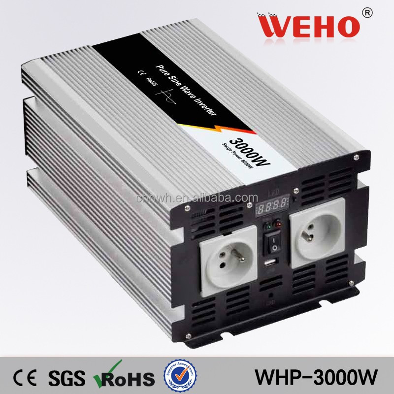 ISO9001 12vac to 230v dc solar power inverter 3000w inverter pure sine wave 3000w