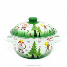 Enamel Cookware with Christmas Design