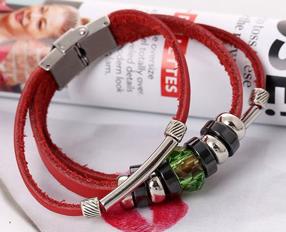 magnetic clasp beads changeable cheap fresh diy genuin leather bracelets