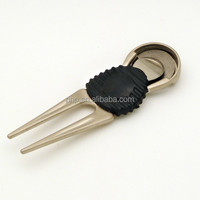 professional custom zinc alloy golf divot repair tool pitch fork