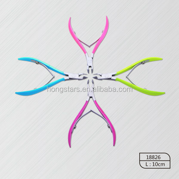 Various-color Soft Rubber Handle Stainless Steel Cuticle Nail Nipper