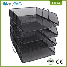 Multifunction office / school mesh desk organizer 4 tier document / letter / file tray