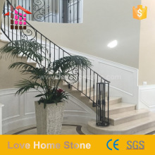 Customized Design Villa Luxury marble tiles for riser stairs