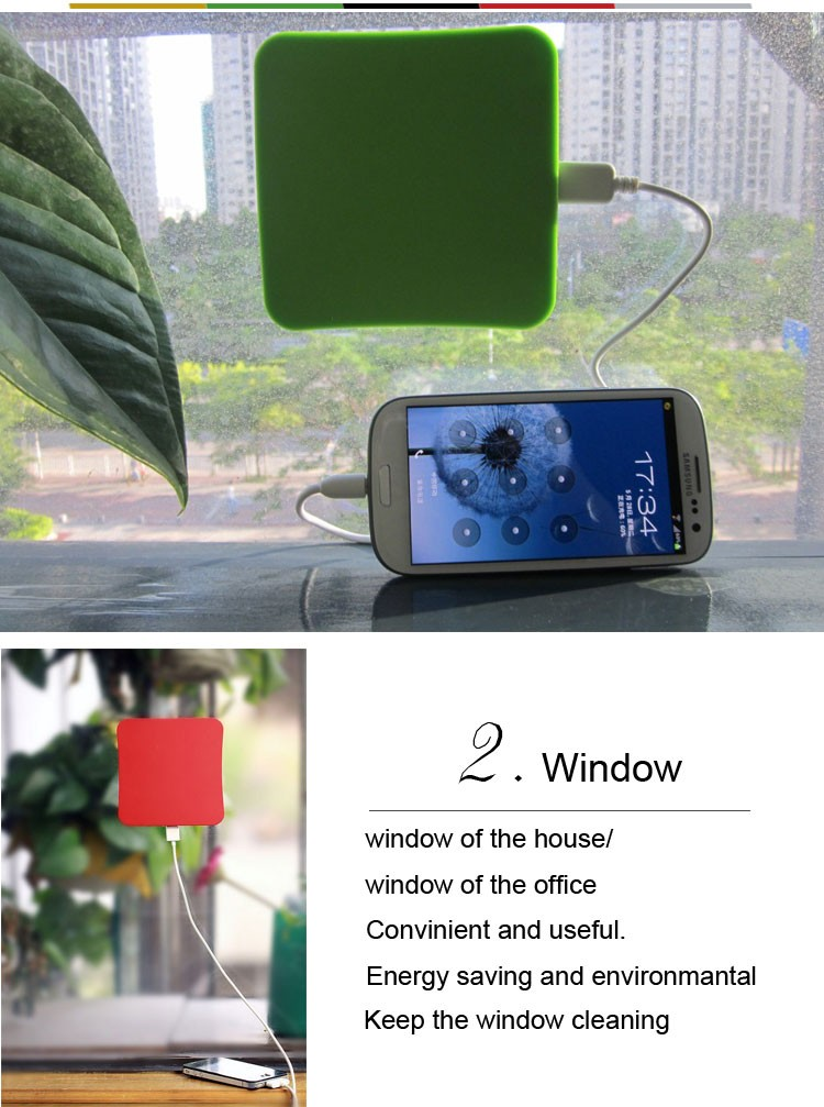 5200mah Factory Cheap Price Portable Solar Window Charger/ Solar Charger Window/Window Stickers Solar Charger for Cell Phone