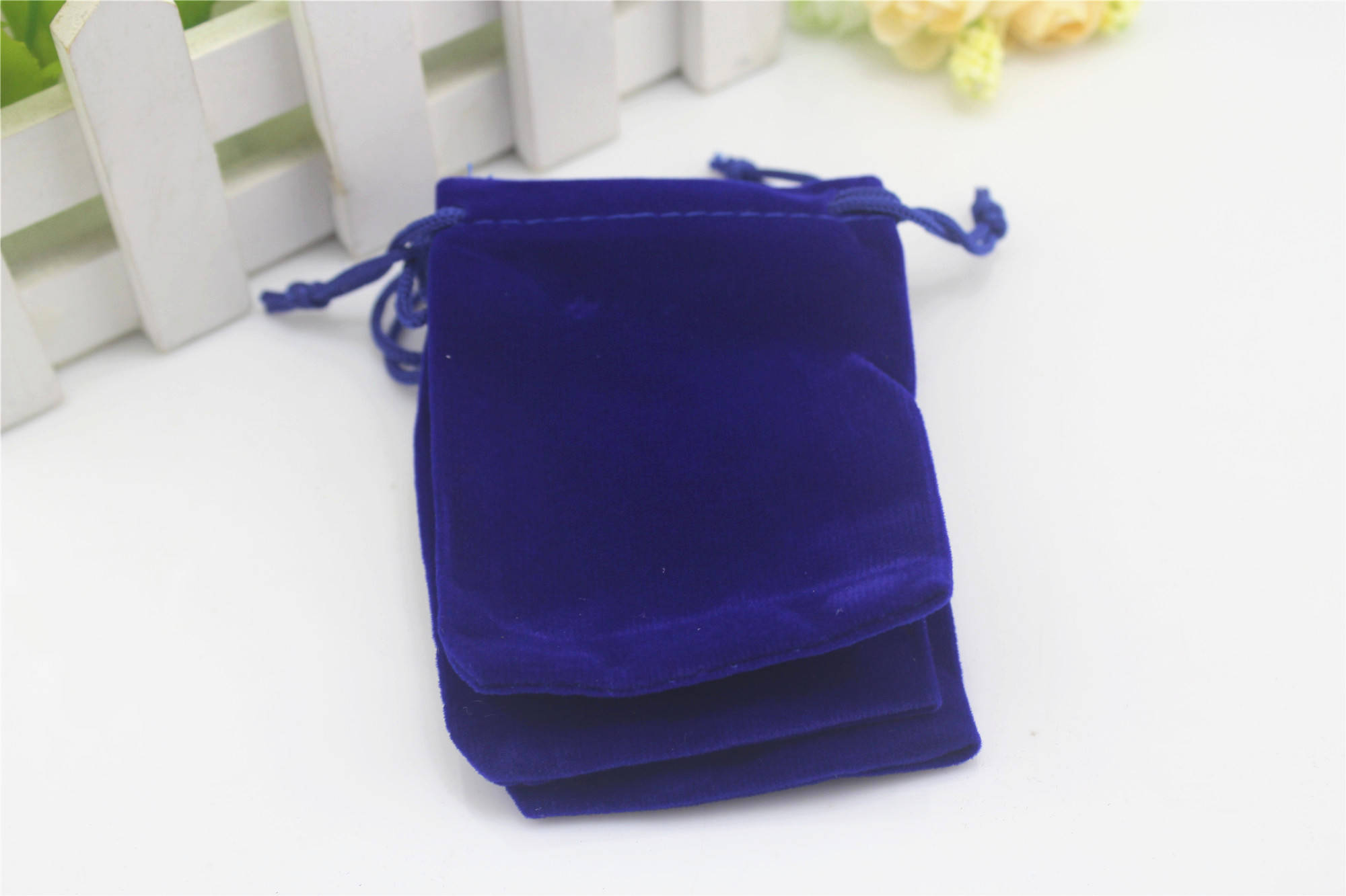 Wholesale 20pcs/lot Rectangle 10x30cm Colorful Drawstring Long Size Velvet Pouch Bag For Wedding Packaging Gift Bags Pouches