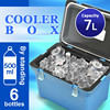 Cooler box 7L Japan made ice warm portable fishing outdoor leisure picnic plastic food wine picnic cooler AQUA BLUE 100