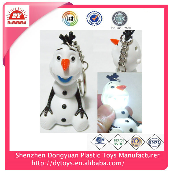 2018 New Arrivals Singing Olaf Light Up Torch Sound Led Keychain