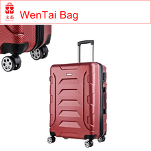 Fashion and lightweight plastic cover 3pcs luggage travel set bag
