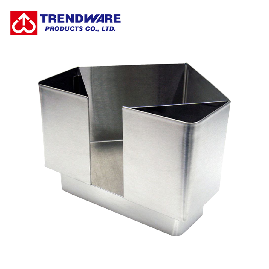 Restaurant Stainless Steel Corner Bar Caddy Napkin Straw Holder