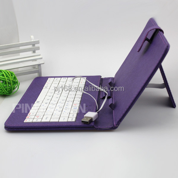 Wholesale USB Or Micro Universal 7 Inch Keyboard Leather Case