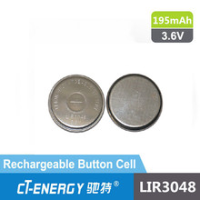 LIR3048 3.6v Li-ion rechargeable button cell