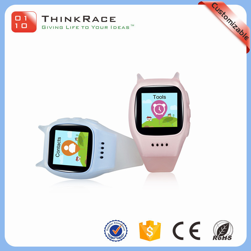 Intimate design high resolution thin kids smart gps tracker watch phone