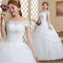 Z60169Y Young Girl Lovely Lace Wedding Dress White Wedding Dress