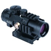 4x32 prismatic Riflescope for Tactical Shooting/Hunting with Rail