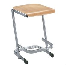 wooden design student stools/school furniture simple study chairs
