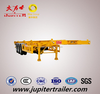 China Truck Of 3 axle Skeletal Semi Trailer