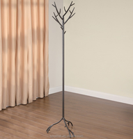 unique tree shape floor standing clothing/bag display stand