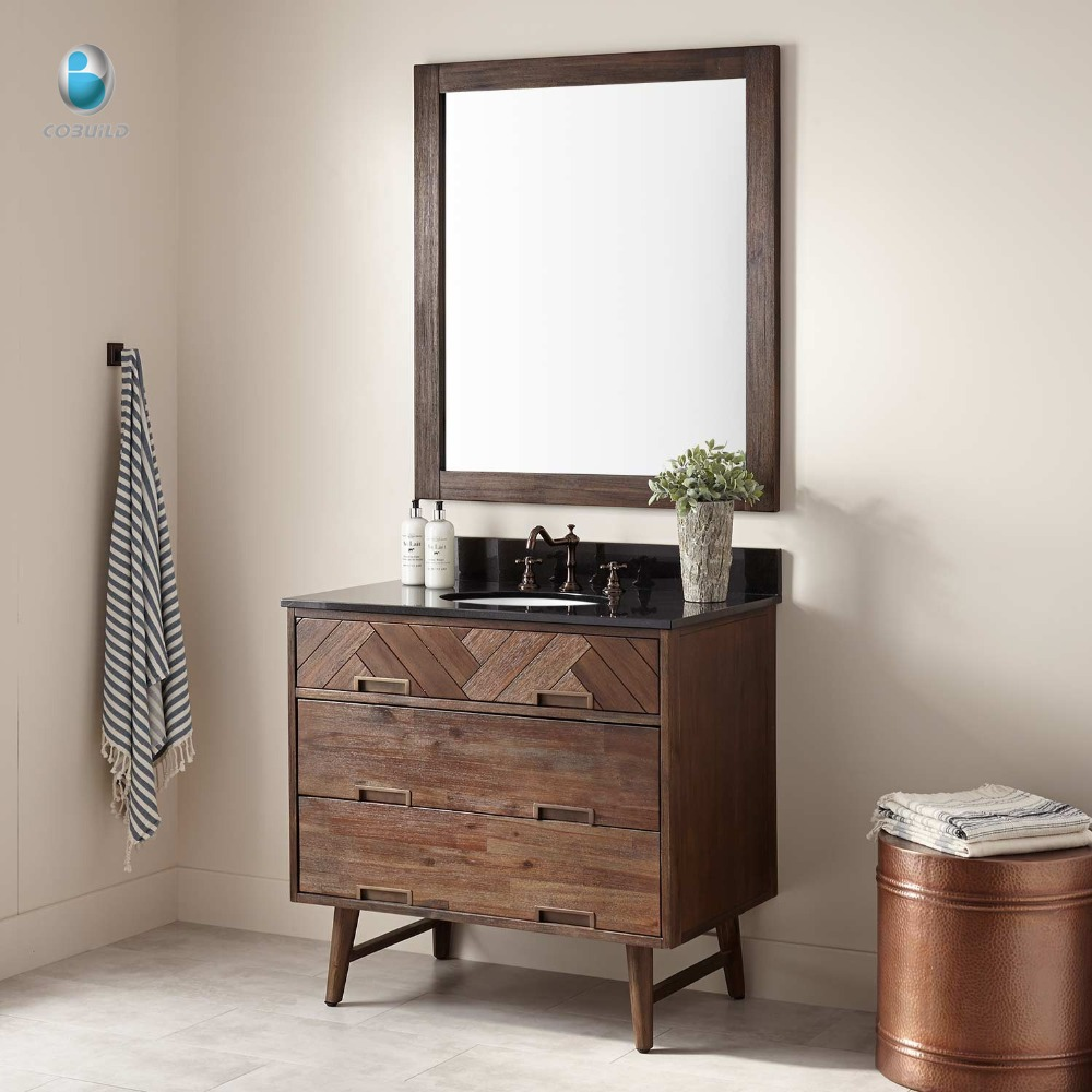 American <strong>antique</strong> <strong>style</strong> wooden <strong>furniture</strong> <strong>oak</strong> floor standing bathroom vanity