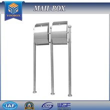 2017 YOOBOX Apartment Buildings Pole Type Stainless Steel Post Mailbox with Stand