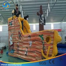 Factory Wholesale Childs Inflatable Pirate ship Bouncr Castle in glass playground