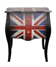 Modern small cheap wooden bedside table with nightstand table wholesale