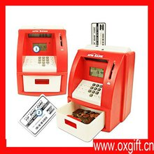 Deluxe ATM Toy Bank with ATM Card, Red
