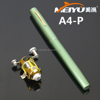 1M. A4-P model ST5-P Drum Reel rod. Fibre Glass rod. Portable Pocket Pen fishing rod