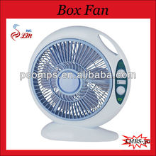 Oval Plastic Blade Box Fan 12 Inch New Fashionable Cheap