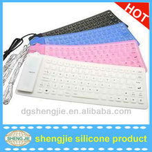 USB + PS / 2 Flexible Foldable colorful keyboard cover for ipad