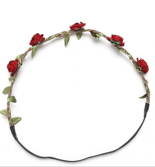 Rose Flower Hollow Hair Band Fashion Wedding Head Chain Jewelry Elastic <strong>Headband</strong>
