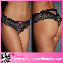 Classic Wholesale Black Lace Heart Throb Naughty Knicker Women Sexy Mini Underwear