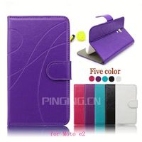 Pu wallet leather phone case cover for Motorola moto e 2015 version,case for MOTO e2 XT1257