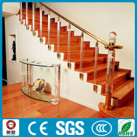 Luxury design interior stairs acrylic handrail