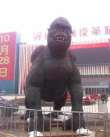 High quality cast bronze large gorilla statue for sale