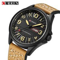 8269 CURREN Clock Men Wrist Watch Man Top Brand Luxury Sports Male Watches Leather Army Military Mens Wristwatch