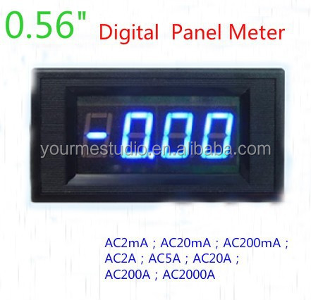 AC 200A Digital Ammeter Blue LCD Amp Panel Meter