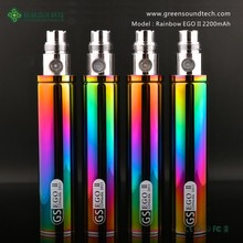 max vapor electronic cigarette GS EGO 2 Series eGo II Rainbow 2200mah Battery 2015 new e cigarette