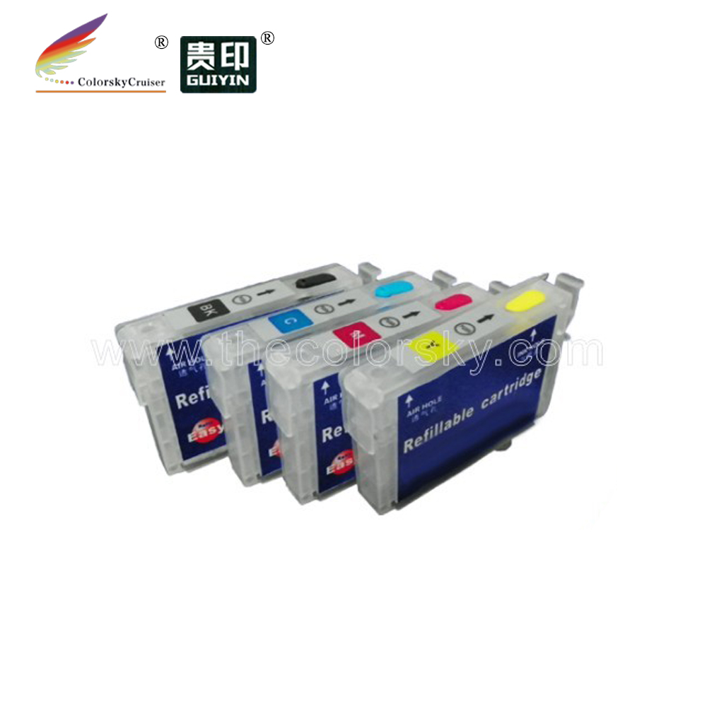 (RCE1271) refill ink cartridge for Epson T1271 - T1274 T127 T <strong>127</strong> bk <strong>c</strong> m y Stylus NX625 Workforce 630 (with ARC chip) 1 set