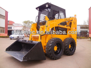 Light duty skid steer loader, China Bobcat with 40hp and capactity of 600kg, CE approved with best price