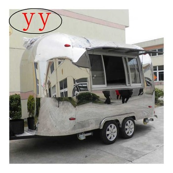 Customized mobile airstream stainless steel hot dog/ food cart /food trailer YY-BT400 For Sale