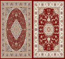Red Pattern Wilton Rugs Prayer PP Material Woven Carpets and Rugs
