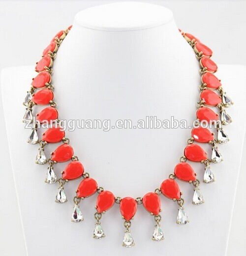 Fashion Crystal Choker Chunky Clothing Statement Necklace