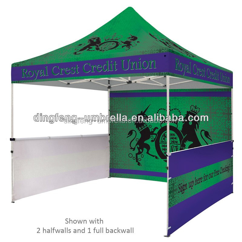 Easy up folding gazebo tent trade show pop up tents for Used craft fair tents
