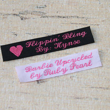wholesale personalized custom iron on fabric private woven labels