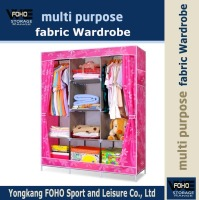 FW135172 2016 Hot sale simple design portable non-woven fabric wardrobe closet