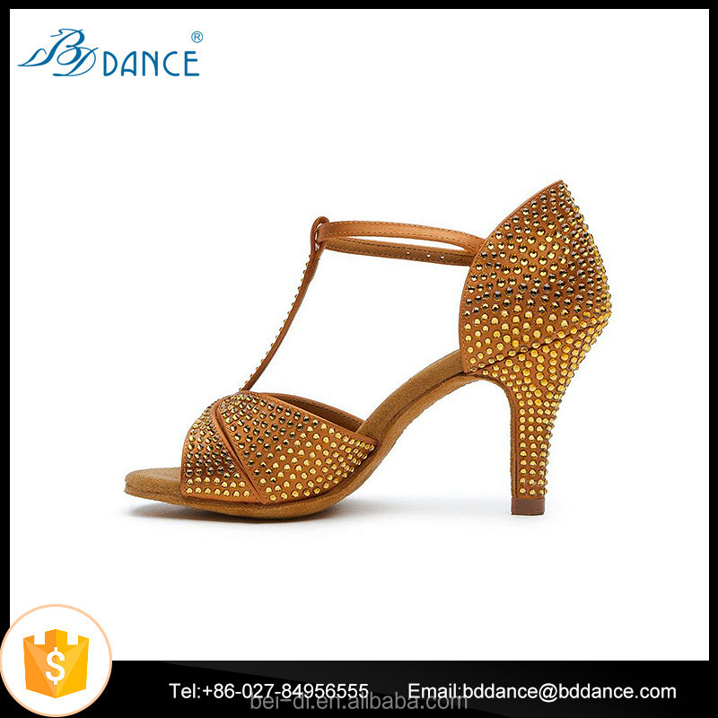 Rhinestone Latin Dance Shoes High Heel Sexy Latin Shoes Women Salsa Dance Shoes Zapatos de Baile Latino 2358-C