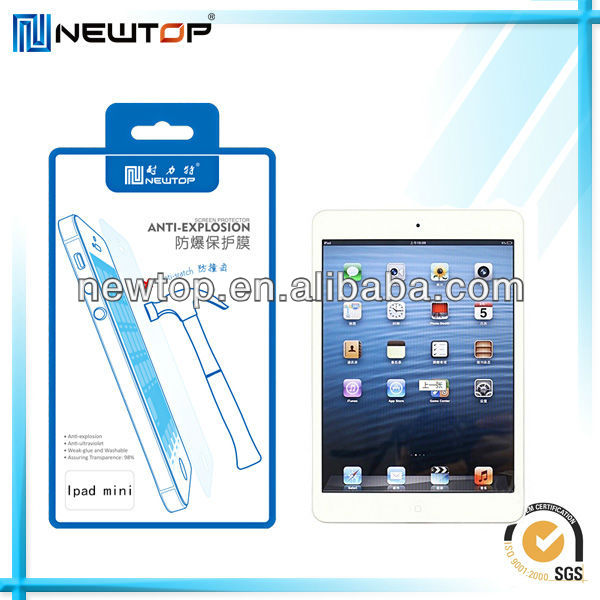 Best Quality New Products 2013 iPad mini anti shock screen protector