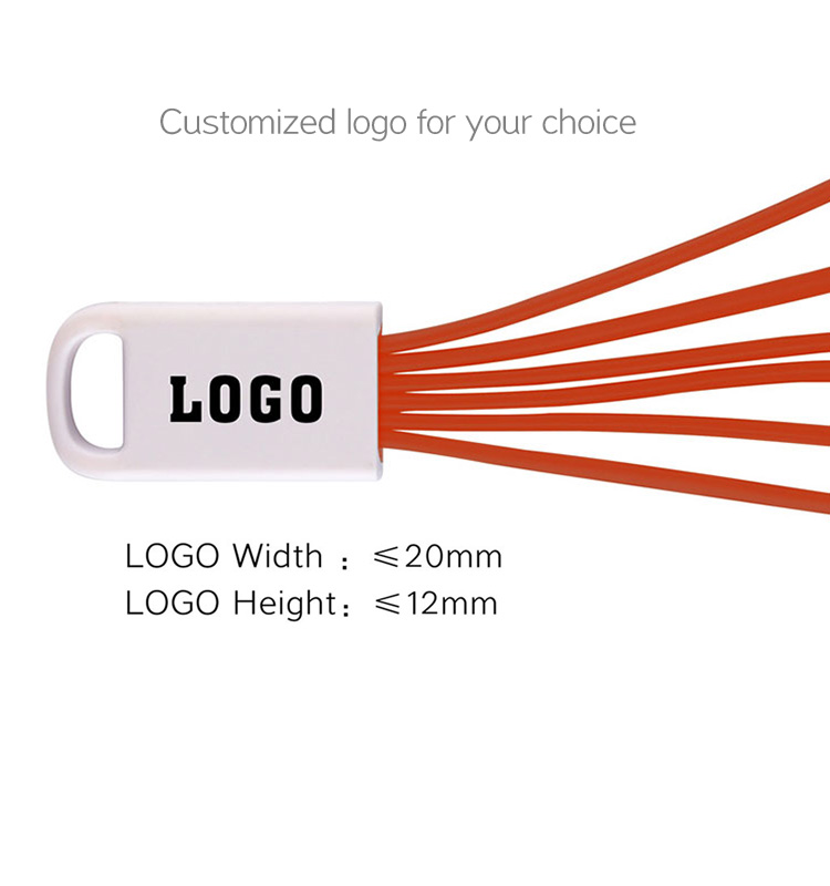 Custom logo design multi usb cable 5 in 1 USB Charging Cable for smart phone with free sample