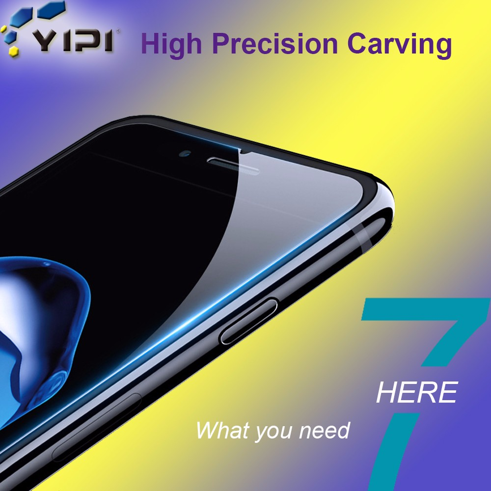 Competitive Price Hd Clear Screen Protector, YIPI Silicone Edge Full Cover For iPhone 6/6 Plus/