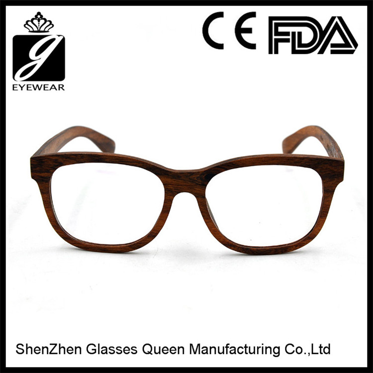 All Face Shape Matched wood Frame Material Eyeglasses Frames from ShenZhen Glasses Queen factory
